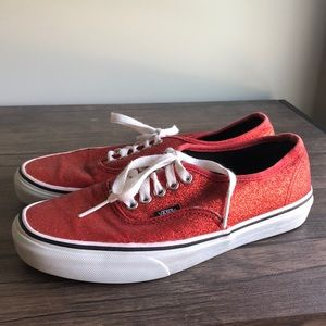 Vans Dorothy Red sparkle Glitter Ruby 8 Shoes
